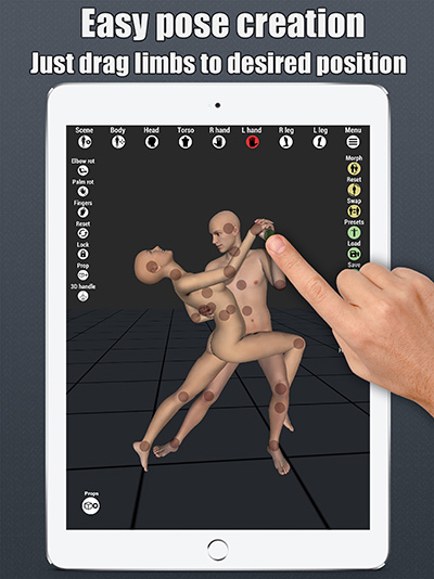 art model 3d pose tool ipad posing