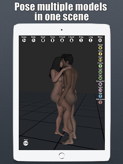 art model 3d pose tool ipad poser
