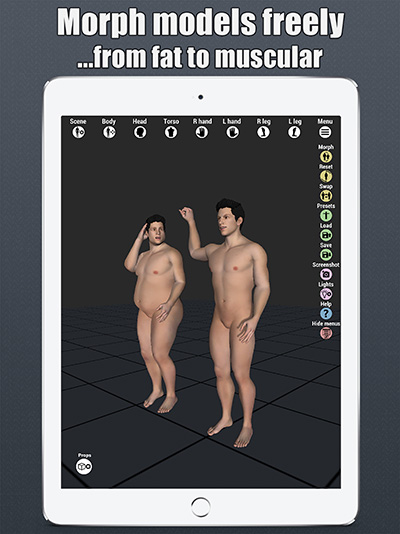 art model 3d pose tool ipad morphing 2