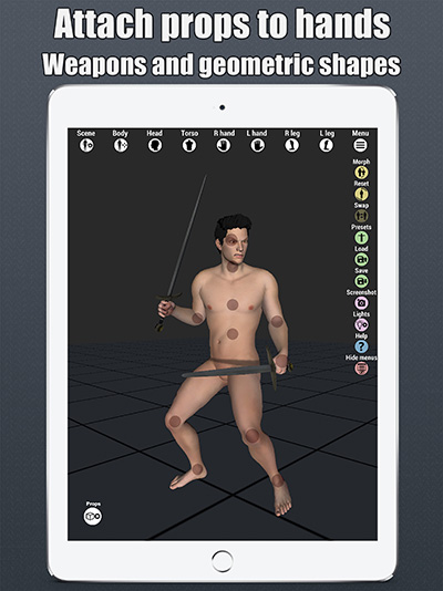 art model 3d pose tool ipad props 2